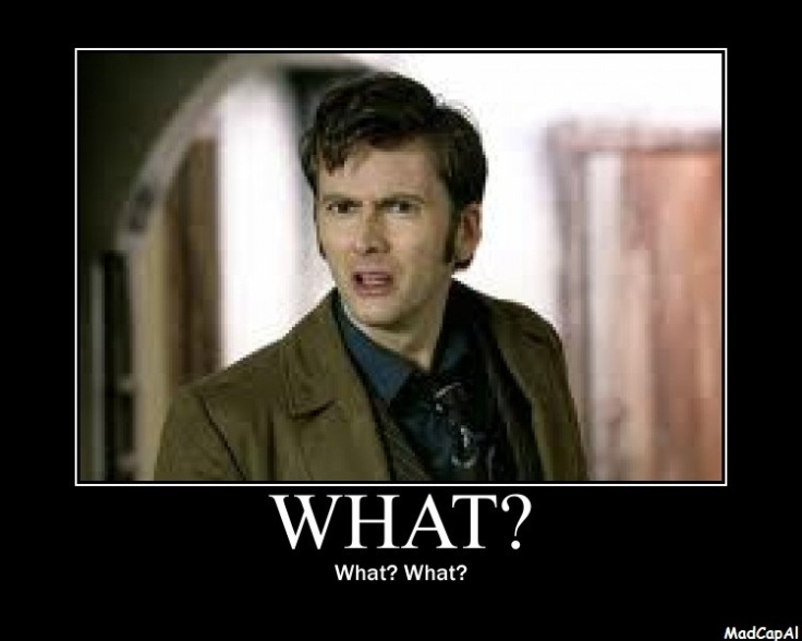 The 10th (Or kind of eleventh...and also kind of 12th) Doctor is confuzzled